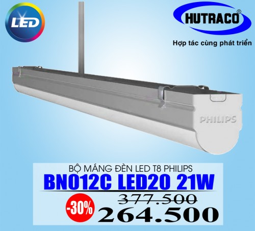 Máng đèn Led T8 Philips 1m2 SmartBright LED Batten BN012C LED20/CW L1200